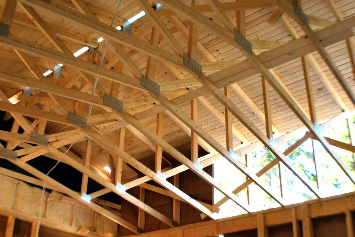 how to cut a timber roof